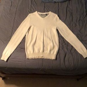 V-neck IZOD sweater light cream color